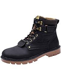 GongzhuMM Bottes de Sécurité Bottines Hommes à Lacets Botte noël Automne Hiver  Hommes Boots Rétro Chaussures de Travail 39-44… 7f97f653abb9