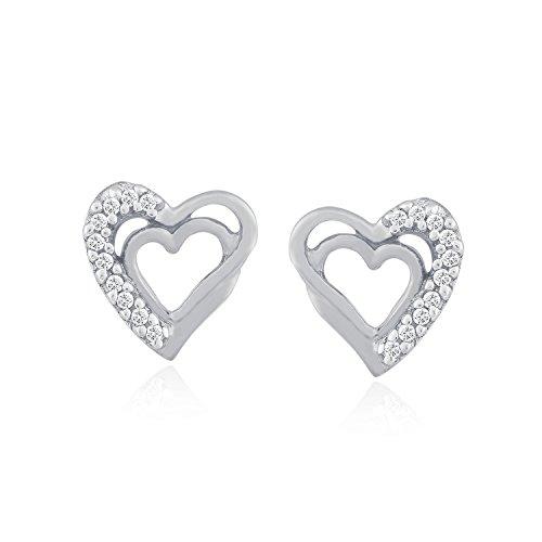 Giantti Diamant pour femme Boucles d'oreilles à tige (0,08ct, VS Clarté, Gh-colour)