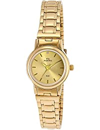 Maxima Analog Gold Dial Women's Watch - 26790CMLY