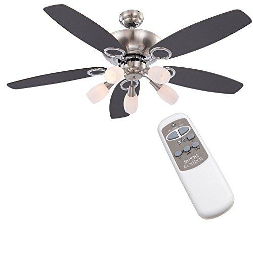 etc-shop Decken Ventilator Wind Maschine kühlen + wärmen im Set Inklusive Fernbedienung
