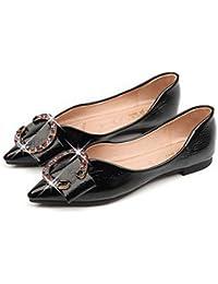 Donyyyy Zapatos de mujer zapatos de la madre, el fondo blando y superficial inferior zapata único,negro,43