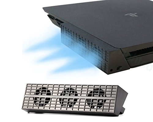 PS4 Slim Ventola di raffreddamento - ElecGear Automatico Temperatura USB External 3 Turbo Cooling Fan Cooler per Console di gioco Sony PlayStation 4 Slim