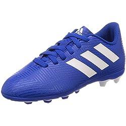 adidas Nemeziz 18.4 FxG, Zapatillas de Fútbol para Niños, Azul Footwear White/Football Blue 0, 38 EU