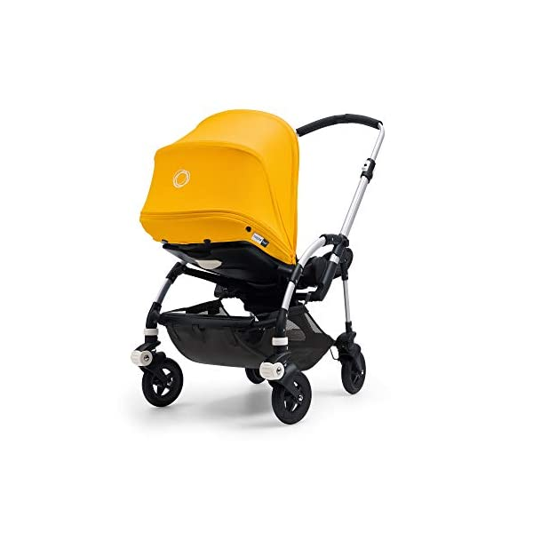 Bugaboo Bee 5, Foldable and Lightweight Pushchair, Converts Into Pram, Black/Sunrise Yellow Bugaboo The perfect choice for travel and city living Use a cocoon or carrycot to convert into a pram for newborns (both sold separately) Compatible with a wide range of car seats (please see list below) 4