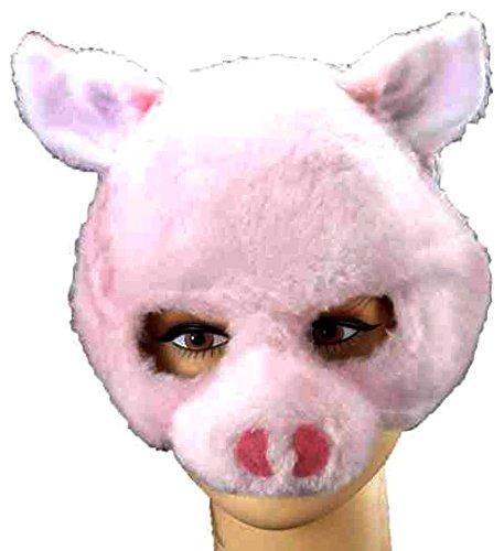 Pig Half Mask With Fun Sound (Pig Creepy Maske)