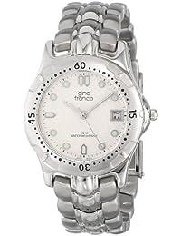 gino franco Men's 953-1 Round Stainless Steel Bracelet Watch