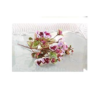 HCZH Simulación Rosa Colina Colorida Camelia Artificial Floral Flor Rosa Artificial de Alto Grado Simulación de Boda Decoración del Hogar Flor Artificial