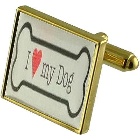 Pet Dog Bone Gemelli con inciso ricordo caso