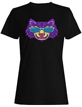 Nuevo Lobo Mano Dibujado Gafas De Sol camiseta de las mujeres h949f