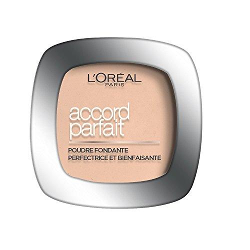 L'Oréal Paris Make Up Designer - Accord Parfait Poudre Fondante et Matifiante 7.D Ambre Doré
