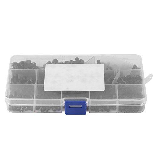 Zylinderschrauben mit Innensechskant, 420-tlg. M3 / M4 / M5-Kohlenstoffstahl-Zylinderschrauben mit Innensechskant und Muttern-Zuordnungssatz