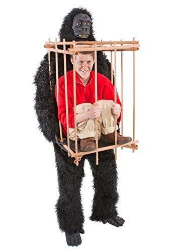 Gorilla tragen Man In einem Käfig-Kostüm (Furries Halloween-kostüme In)