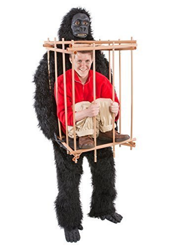 n einem Käfig-Kostüm ()