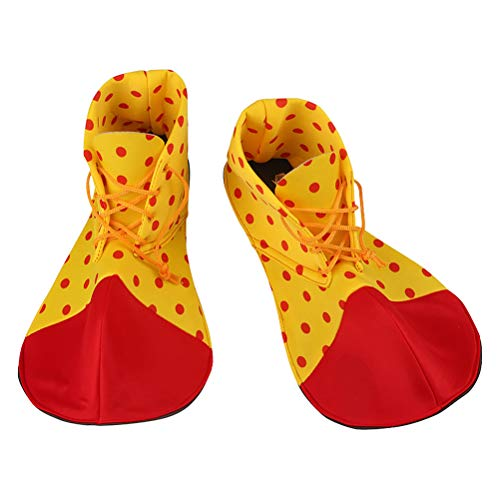 Amosfun Clown Schuhe Dot Karneval Requisiten Halloween Kostüm Clown Schuhe für Frauen Männer EIN Paar von durchschnittlicher Größe
