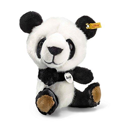 Steiff 064845 Tom Panda Plüsch sitzend weiß/schwarz 22 CM