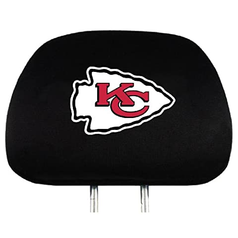 NFL Kansas City Chiefs Head Rest Covers, 2-Pack