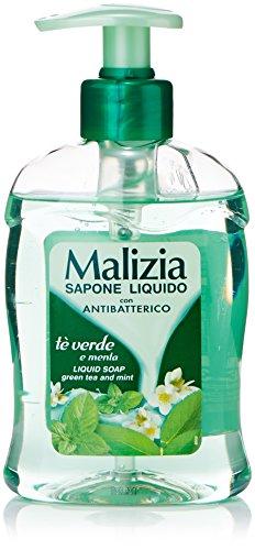 Malizia - Sapone Liquido, con Antibatterico, Tè Verde e Menta - 300 ml
