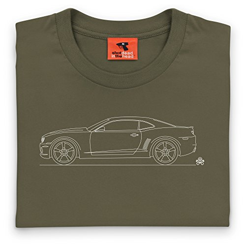 PistonHeads Camaro SS Muscle Car T-Shirt, Herren Olivgrn