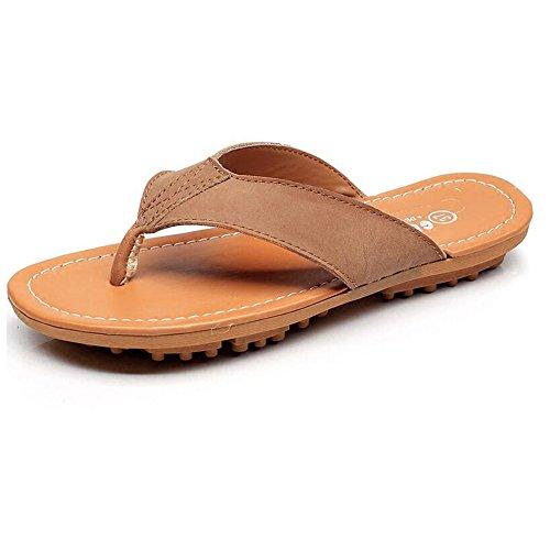 Estate Sandali Sandali Flip-flop femminile Femmine femmine pantofole fresche Scarpe da spiaggia per maschio / femmina Colore / formato facoltativo Marrone chiaro