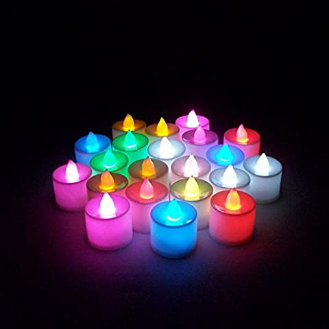 [ Kostenlose Lieferung - 7-12 Tage] 7Pcs Led Licht Kerze Flameless Bunte Tee Kerzenlampe Elektronische Kerze Partei Hochzeitsdeko BML® // 7Pcs Led Light Candle Flameless Colorful Tea Candle Lamp Elec