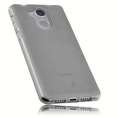 mumbi Schutzhülle für Huawei Honor 6C Hülle transparent schwarz