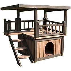 SixBros. Perrera Casita para perros y gatos madera maciza W20017-S/1997