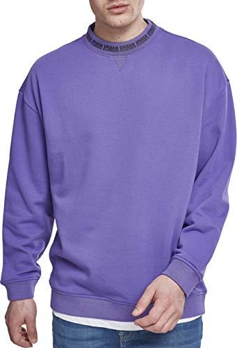 Urban Classics Herren Oversize Logo Crew Sweatshirt, Violett (Ultraviolet 01459), XXL