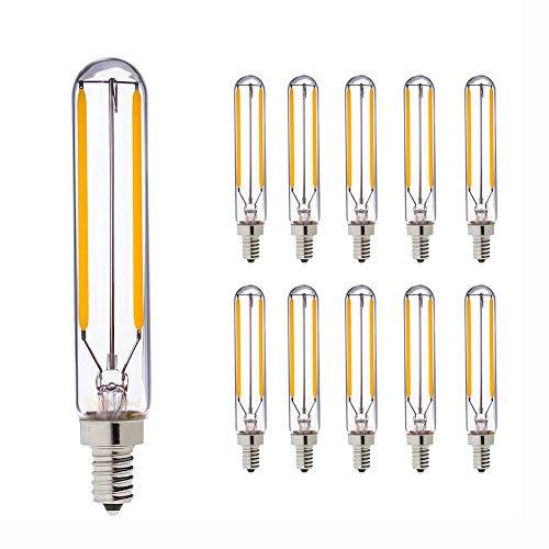 T25/T20L 2W/4W Glühfaden LED Kerze Lampe, 2200K/2700K Warmweiß 200/400 Lumen E14 Dimmbar
