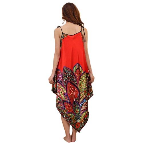 Sanwood Sleepshirts BabySafe Babywear Casual Femmes Chemise de nuit Rouge - Rouge