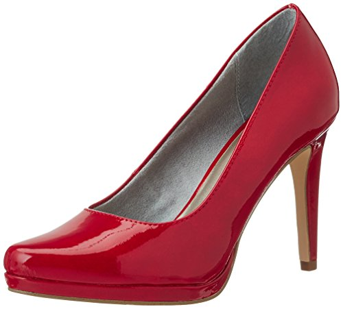 Tamaris Damen 22448 Pumps, Rot (Chili Patent 520), 40 EU