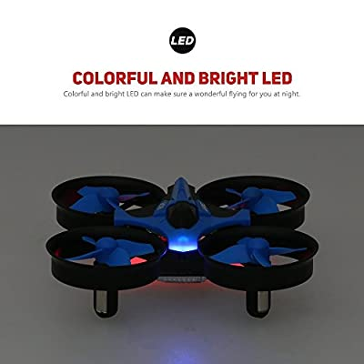 RC Quadcopter Drone,Mindkoo H36 Mini UFO Drone 2.4G 4CH 6 Axis Headless Mode Remote Control One Key Return Nano Quadcopter RTF Mode 2
