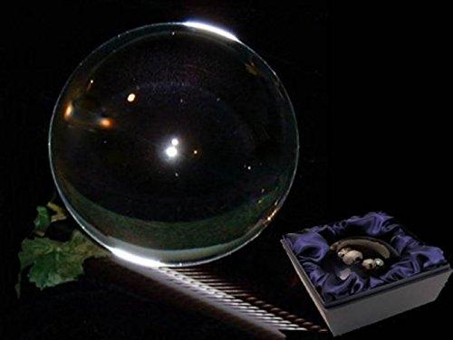 Sfera di cristallo + base in vetro