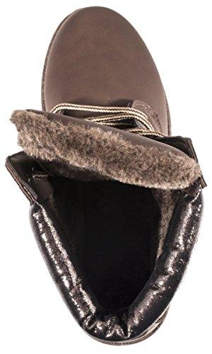 Elara - Stivali da Neve Donna Marrone