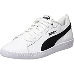 Puma Smash Wns V2 L, Zapatillas Para Mujer, Blanco White Black, 39 EU