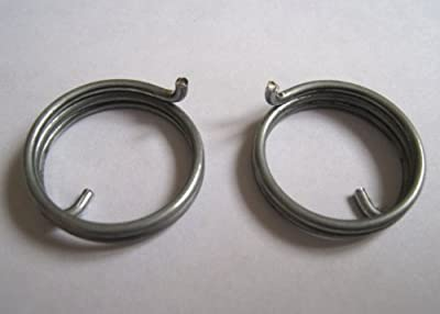 6 Door Handle Springs (3 handed pairs), 2 + 1/2 turns, 1.63mm wire, 22.5mm diameter - cheap UK light shop.
