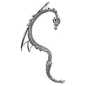 Alchemy Gothic Drache Ohrring silber