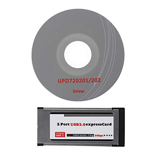 siwetg 2 Ports USB 3.0 Express Card ExpressCard 34mm/54mm versteckter Adapter für Laptop