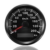 GPS Tacho Kilometerzähler 200km/h für automatische Marine Truck mit Hintergrundbeleuchtung 85mm 12V/24V