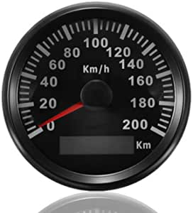 Eling Km Gps Tacho Kilometerzähler 200km H Für Auto Marine Truck Mit Hintergrundbeleuchtung 85mm 12v 24v Auto
