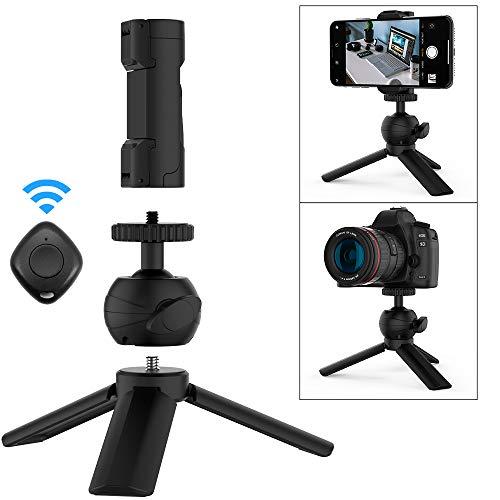 TATE GUARD Handy-Kamerastativ-Set Tragbar und verstellbar Ständer,Bluetooth Fernbedienung Kamera Stativ,für iPhone Android Handy Mini-Stativ-Kit für Fotografen Videographer YouTube Vlog Selfie Handy Guard