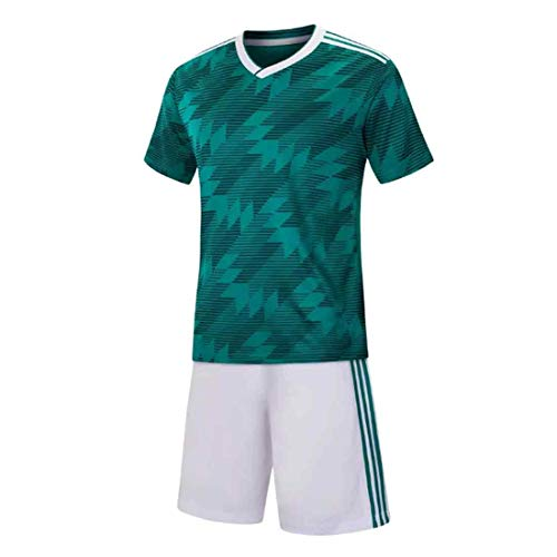 Aiweijia Männer Trainingsanzug Fußball Trainingsanzug Fußball Trikots Set Jungen Fußball Trikot Jugend Set Fußball Trikots Shirts + Shorts Set