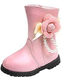 Zapatos de Bebé, LANSKIRT Recién Nacido Niño Niña Zapatilla de Deporte Cremallera Lateral Botas de