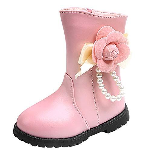 Baby-kalb Schuhe (HEETEY Junge Mädchen Schuhe Winter warm Jungen Mädchen Martin Sneaker Boots Schnee-Baby über den Kalb-Schuhen Warme Stiefel für Blumen)