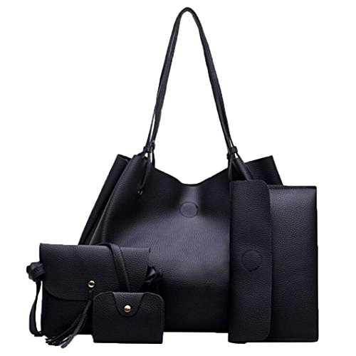 ❤️ Ensemble de Sac Femmes, Amlaiwolrd Quatre ensembles de sac Sacs à main en cuir Sac de messager