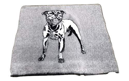 Topmast Vet Bed Hundedecke mit Amerikanischem Stefford schwarz/grau Extra Soft, Doppelpack 2x150/100cm Schlafdecke,