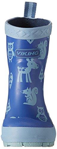 Viking Unisex-Kinder Eventyr Gummistiefel Blau (Navy/Multi)