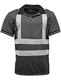 High Vis visibilidad Polo de manga corta T camiseta EN471–HV004