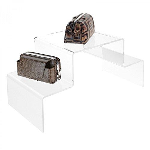 Scaletta in plexiglass trasparente - misure: 40 x 20 x h20 cm
