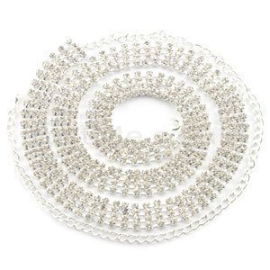 Ladies Waist Chain Belt - Silver Colour with Diamante/Diamond -