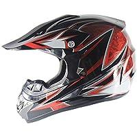 SHOW Cascos Todo Terreno-ATV Casco Moto Integral Ligero para Mujer Hombre- Negro Rojo